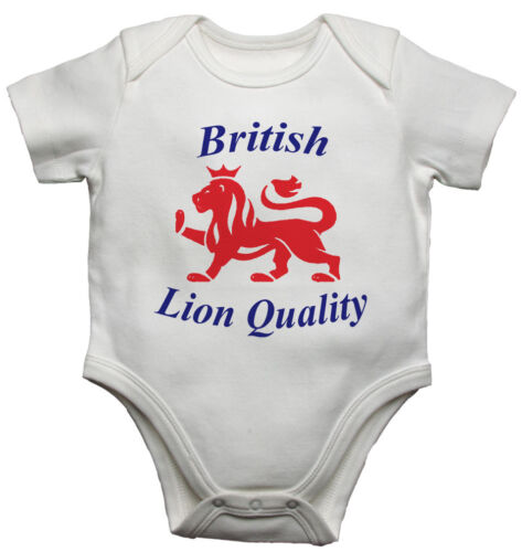 White British Lion Quality Personalised Baby Vests Bodysuits Boys Girls
