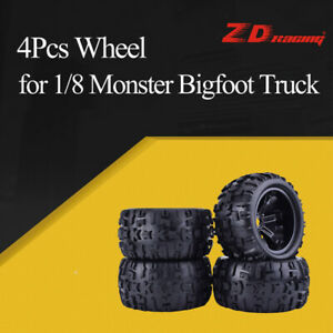 4Pcs-ZD-Racing-150mm-Wheel-Rim-and-Tires-for-1-8-Traxxas-Monster-Bigfoot-Truck