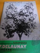 catalogue d'horticulture - jardin - pépinières - F . DELAUNAY Anger  ( ref 10