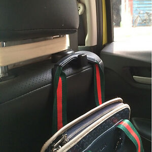 car headrest seat back hanger holder hook organizer for purse bag coat hyundai ebay. Black Bedroom Furniture Sets. Home Design Ideas