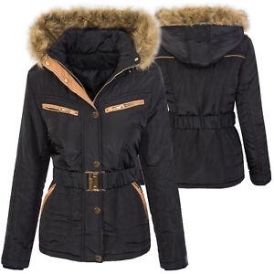 Das Bild wird geladen Designer-Damen-Jacke-Parka-Mantel-Winterjacke -Steppjacke-warm- c250694c63