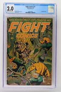 Fight Comics #31 - Fiction House 1944 CGC 2.0 Decapitation cover.
