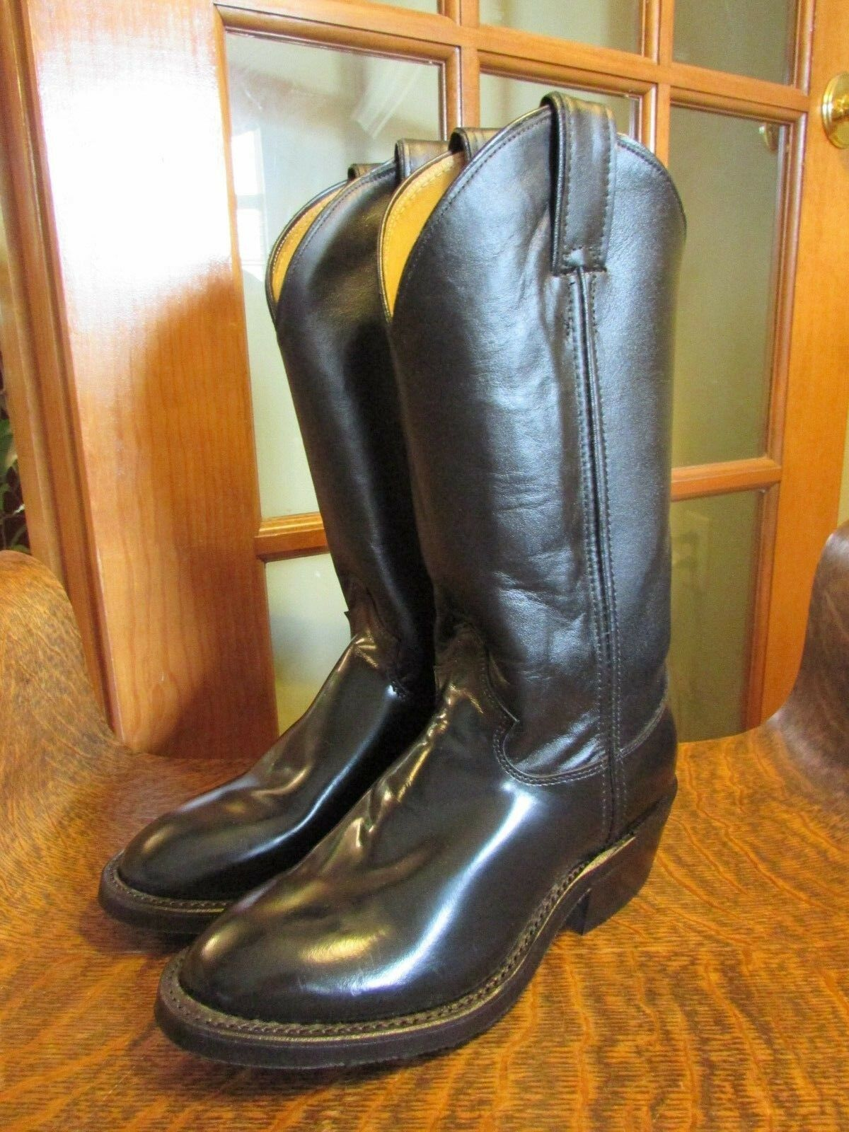 New, JUSTIN Ladies Size Size Size 6.5 Black Leather Melo-Veal Western Cowboy Boots, M6637 8accd8