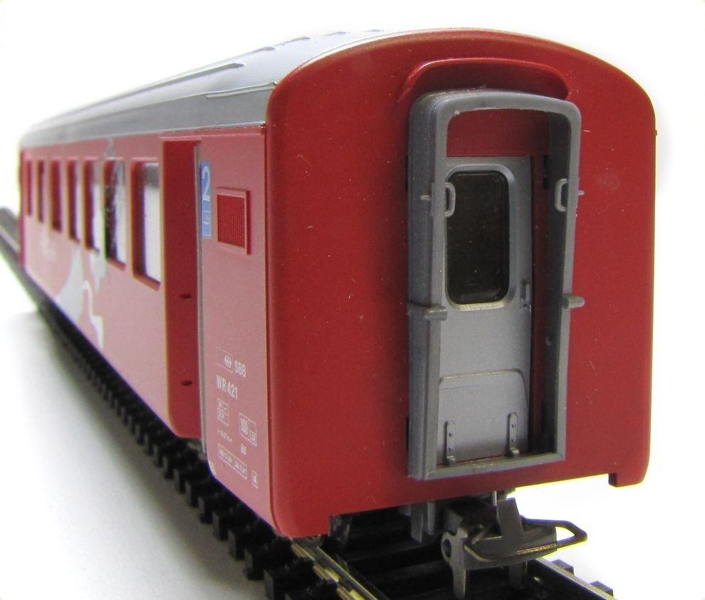 BEMO 3284 125 2. Kl. Mitteleinstiegswagen RhB B 2335 Ep IV Spur H0m 1 87 - OVP