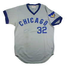 1974 CHICAGO CUBS TOM DETTORE GAME USED WORN ROAD JERSEY SIGNED BY MILT PAPPAS