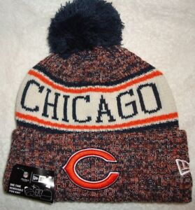 1e29885a5 CHICAGO BEARS 2018 NEW ERA ON FIELD SPORT KNIT POM HAT NEW WITH TAGS ...