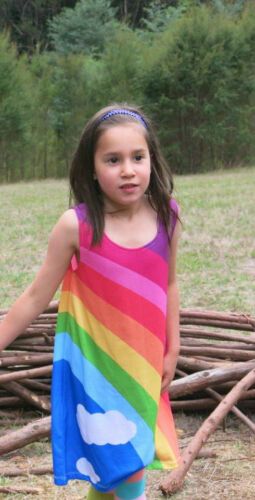 Girls dress :Classic Rainbow size 2-14 FREE DELIVERY