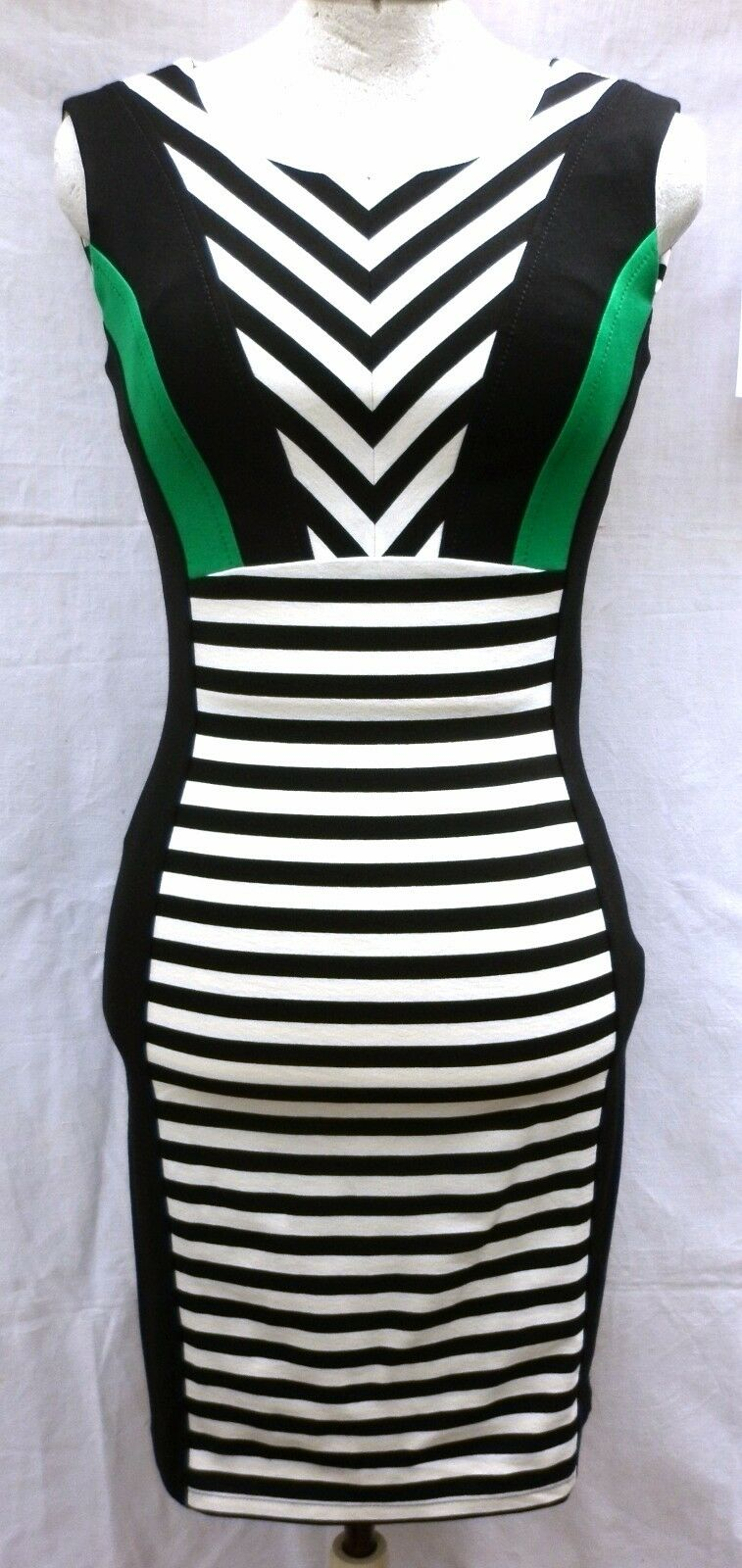 Jerseykleid 46 Streifen schwarz weiß grün KAPALUA Sommerkleid Kleid Wenz NP