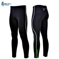 Mens Cycling Running Long Pants Compression Base Layers Tights Pants Sports Wear