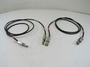Lot-of-2-EMC-038-003-787-Cable-2M-Mini-SAS-SFF-8088-to-SFF-8088