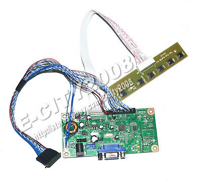 "VGA Input LCD Controller board kits For 17.3"" B173RW01 1600*900 DIY LED Monitor"