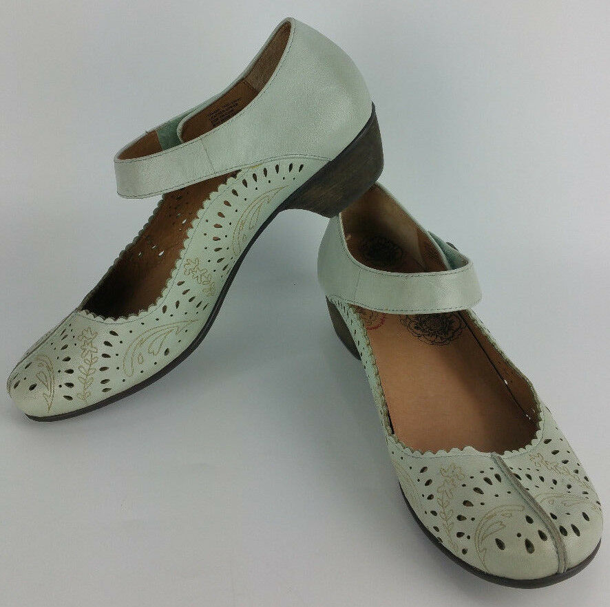 Taos Tango femmes 10 Turquoise bleu Leather Mary Jane Kitten Heels Pumps chaussures