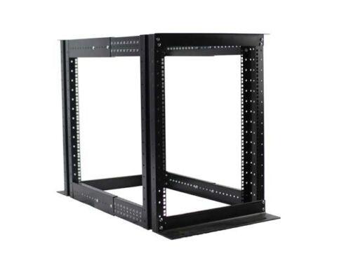 """15U 4 Post Open Frame Server Rack Enclosure 19/"""" Adjustable Depth"""