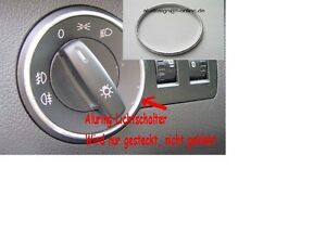 Alu-Ring-fuer-Lichtschalter-Aluring-fuer-Audi-A4-8E-B6-Chrom