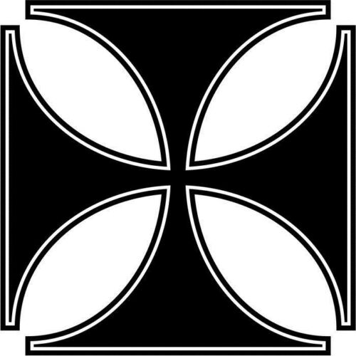 Maltese Cross For Car Window Truck Laptop Vinyl Decal Sticker