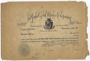 LA-JARA-GOLD-MINES-OBSOLETE-1912-COPPER-PRINTING-PLATE-for-SHARE-amp-COUNTERFOIL