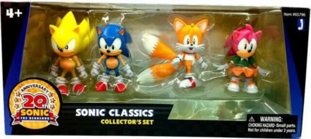 Sonic The Hedgehog 20th Anniversary Sonic Classics Action Figure 4 Pack For Sale Online