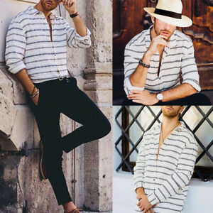 Men-039-s-Luxury-Casual-Business-Formal-Shirt-Long-Sleeve-Slim-Fit-Dress-Shirts-Tops