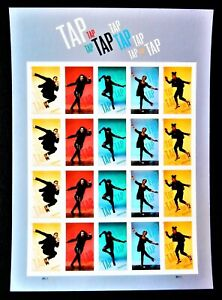 US -Tap Dance imperf NDC sheet (20 stamps) MNH 2021