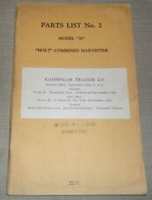Cat Caterpillar Holt Model Thirty 30 Combined Harvester Parts Manual