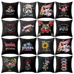 Am-Flower-Letter-Tiger-Flamingo-Pillow-Case-Cushion-Cover-Sofa-Bed-Car-Decor-My