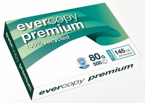 Clairefontaine Evercopy Premium 80g//m² DIN-A3 500 Blatt 145 Weiße 100/% Altpapier