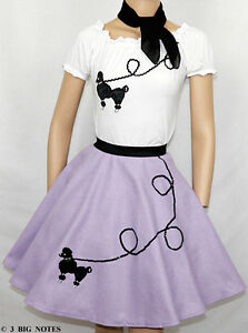3PC-LAVENDER-50s-Poodle-Skirt-outfits-Girl-Sizes-7-8-9