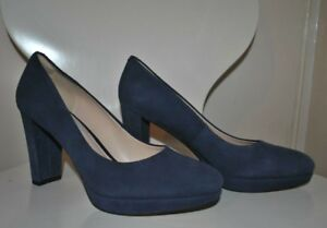 Uk High Navy Fit Block Clarks 5 Heels Narrow 5 Size Narrative Suede Blue 0zwqpHS