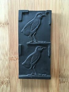 Vintage-Egyptian-1970-039-s-Birds-Tablet-Black-Soapstone-Collectable-24-99