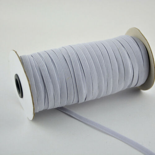 100M 1//4/'/' Elastic Rope Band Rubber Tape Stretch String Cord Ear Hanging Sewing
