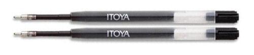 2 Pack Medium Point Ballpoint Pen Itoya Refills Black