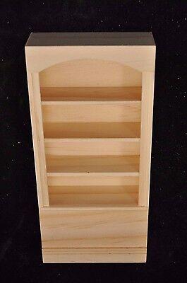 Store Shelf Unit 9954 dollhouse miniature 1//12 scale Houseworks unfinished wood