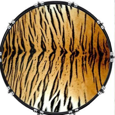 aquarian 22 kick bass drum head graphical image front skin tiger print ebay. Black Bedroom Furniture Sets. Home Design Ideas