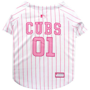 Chicago-Cubs-MLB-Pets-First-Officially-Licensed-Pinstripe-Dog-Jersey-Pink