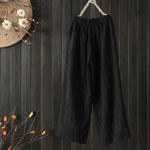 UK 8-24 Womens Oversized High Waist Baggy Wide Leg Pants Yoga Palazzo Trousers