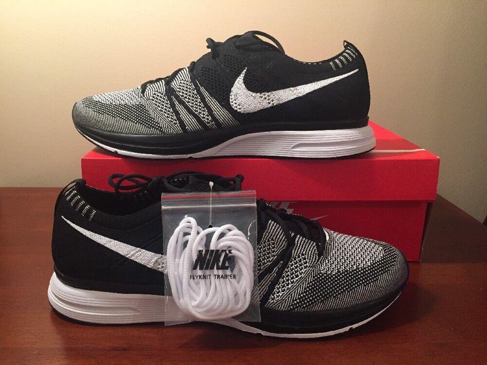 Nike Flyknit Trainer Running Black White Oreo 2018 AH8396-005 Mens Size 11.5