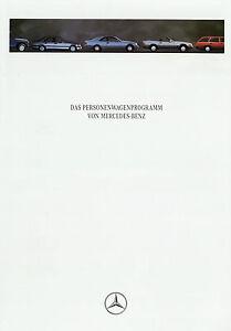 Mercedes-Prospekt-1993-8-93-Autoprospekt-R129-W124-W140-SL-W202-brochure-catalog