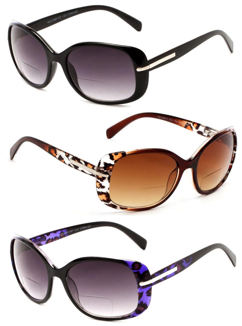 00e0555e6d61 Women Fashion Square Bifocal Reading Sunglasses Sun Readers UV Protect