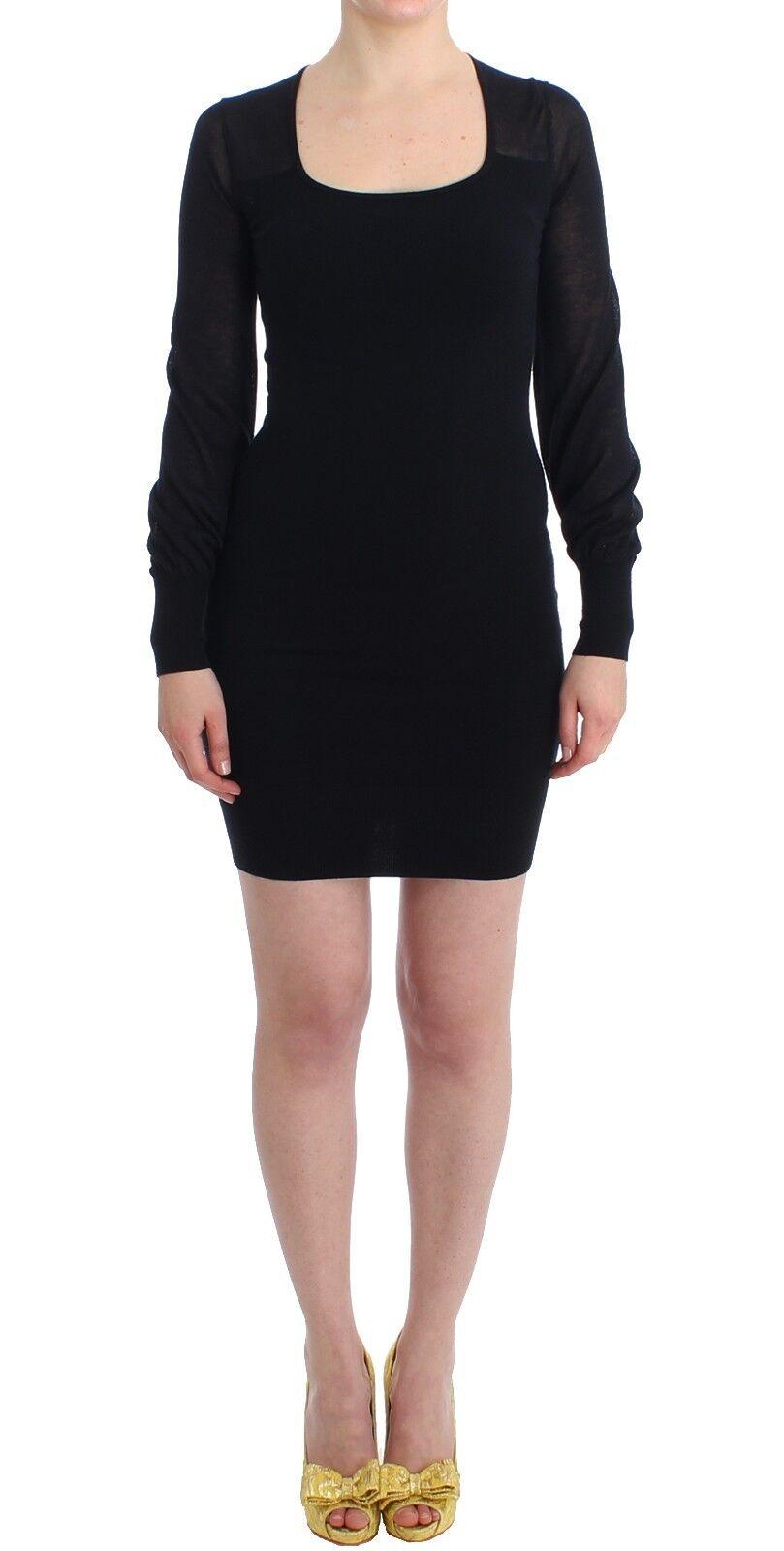 NWT  GF Gianfranco Ferre Longsleeved Knitted schwarz Sweater Dress XS US4