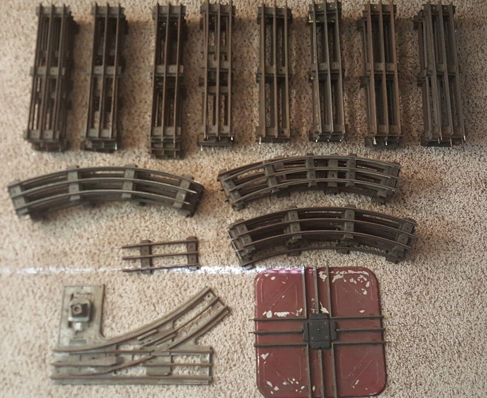 Lote de 59 LionelIves estándar calibre 16 Curvo 40 pistas rectas Lote 1