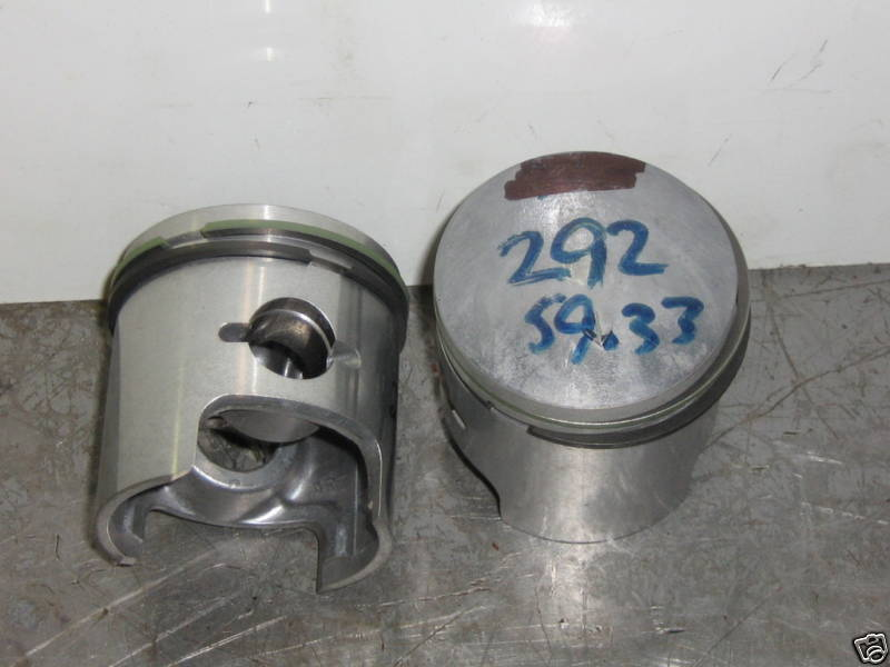 Vintage chaparral 292 twin pistons  1.00mm oversize bore  cooled free ship  fan cooled  d1e821