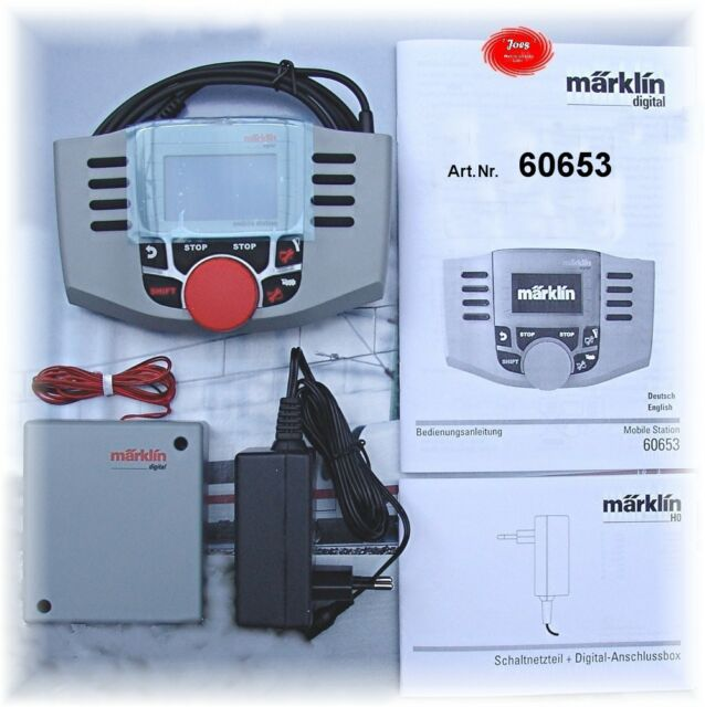 neu Anschlußbox + Netzteil 36 VA V2.5 Märklin 60653 Mobile Station