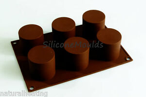 6 Cell CYLINDER TUBE Mini Wedding Cake Silicone Bakeware Mould - Mini Wedding Cake Mold