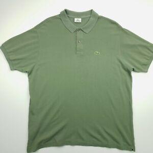 Lacoste vintage pour homme Polo 8 2XL à manches courtes vert Coupe Standard Coton