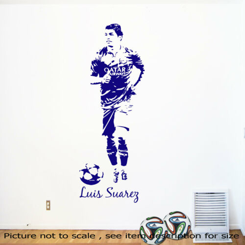 Luis Suárez Wall stickers Vinyl Mural FC Barcelona suarez decals Boy sports Art