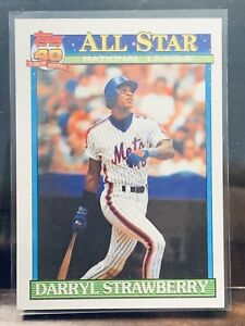 1991 Topps Darryl Strawberry All Star Card #402
