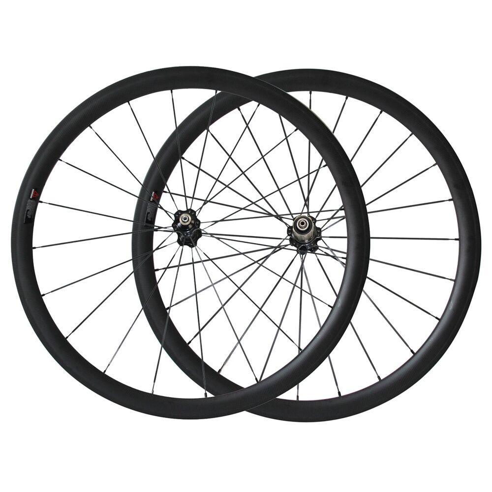 25mm width 38mm clincher carbon wheelset road bike U shape basalt brake surface