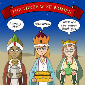Funny Christmas Pictures.Details About Merry Christmas Card With Three Wise Women Xmas Card Funny Christmas Card