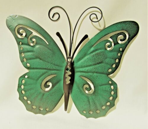 F Butterfly Hand Painted Metal Wall Art Yard /& Garden Home Decor