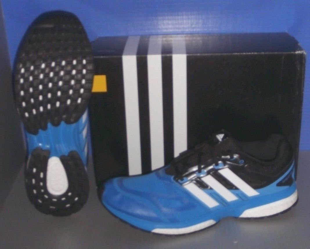MENS ADIDAS RESPONSE BOOST TECHFIT M in in in colors BLUE / WHITE / BLACK SIZE 12 6bc794
